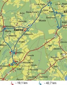 Saaremaa Rattasõidu kaart