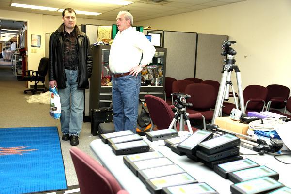 TIPPTEHNIKA: Aivo Maripuu (vasakul) ja Lynx Systems esindaja Edward G. Evansen